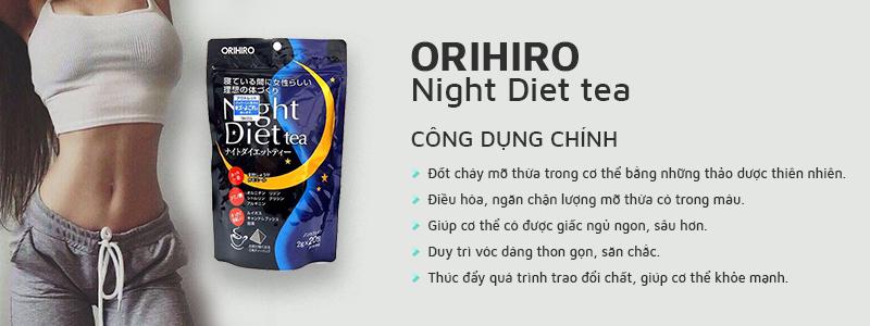 Trà giảm cân Orihiro Night Diet Tea hỗ trợ giảm cân an toàn