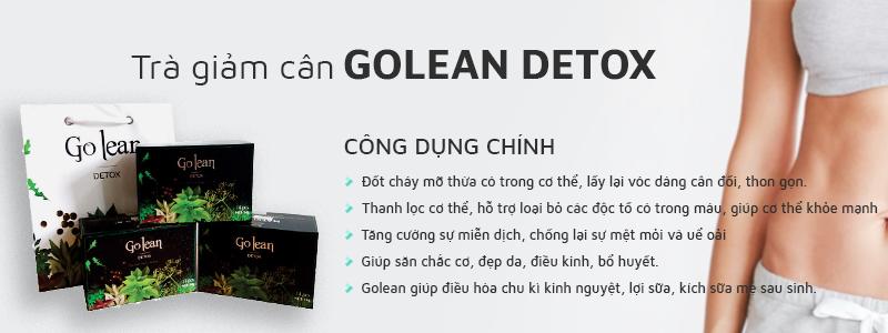 Trà giảm cân Golean Detox nhanh chóng lấy lại vóc dáng cân đối, thon gọn