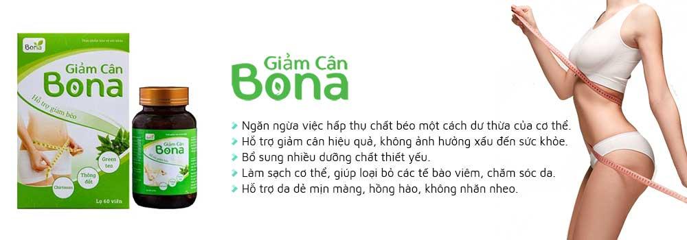 Giảm cân Bona có nhiều công dụng tích cực hỗ trợ giảm cân