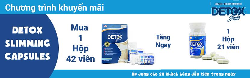 Chương trình khuyến mãi khi mua Detox Slimming Capsules