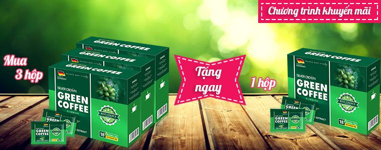 Chương trình khuyến mãi: Mua 3 hộp Green Coffee Slimming tặng ngay 1 hộp Green Coffee Slimming