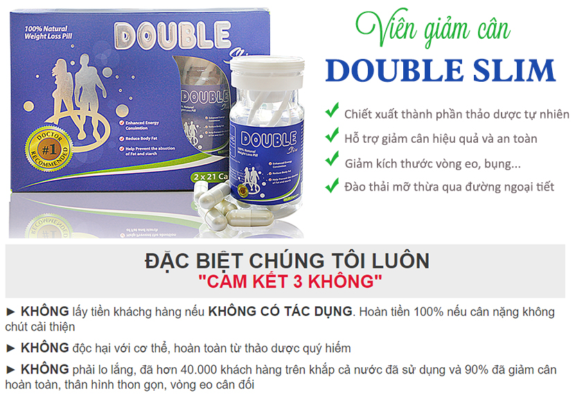 Cam kết 3 KHÔNG từ nhà sản xuất Double Slim