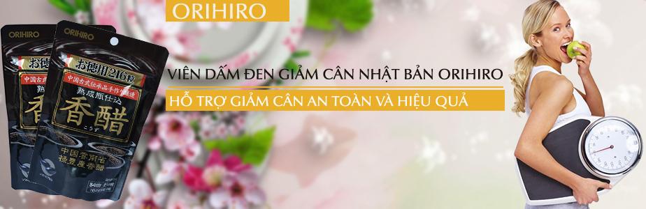 Dấm đen dạng viên của Orihiro Nhật Bảnlà một trong những loại thực phẩm chức năng giúp hỗ trợ giảm cân an toàn mà lại hiệu quả