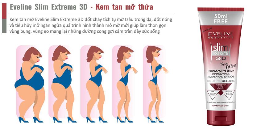 Kem tan mỡ Eveline Slim Extreme 3D giải pháp đánh tan mỡ thừa