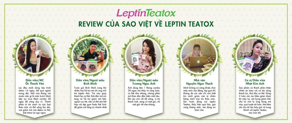 Review của các sao Việt về trà Leptin Teatox