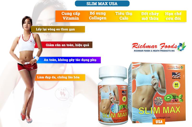 Slim Max USA hỗ trợ giảm cân an toàn, hiệu quả