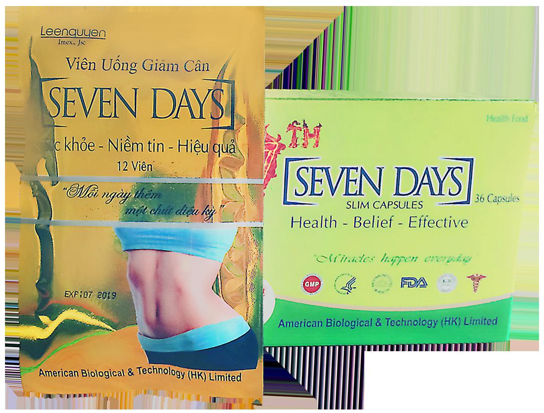 Thuốc giảm cân Seven Days giúp giảm cân an toàn hiệu quả