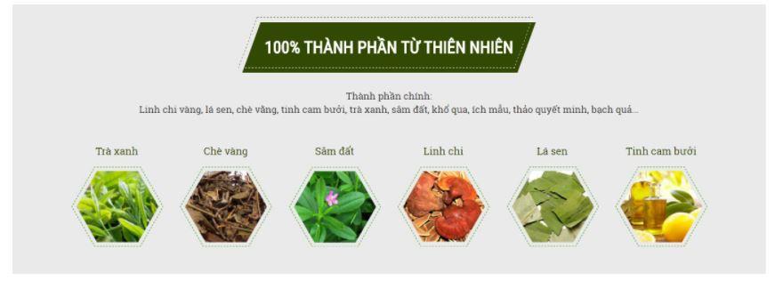 Trà giảm cân Cường Anh được chiết xuất từ hơn 20 loại thảo mộc