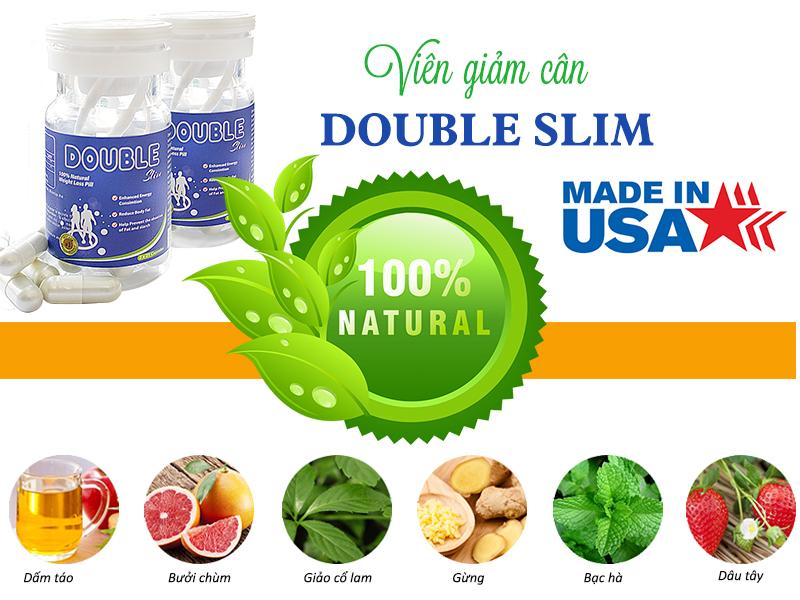 Double Slim chiết xuất từ các thành phần thảo dược tự nhiên