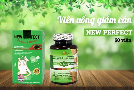 Viên uống giảm cân New Perfect hỗ trợ giảm cân an toàn hiệu quả