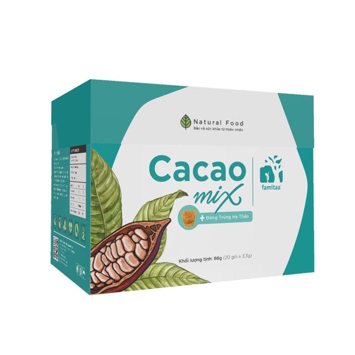 Cacao MIX giúp giải độc, giảm mỡ, Hộp 20 gói