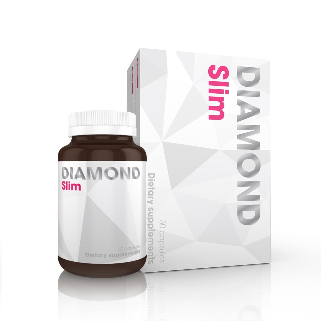 Viên Giảm Cân Nhanh Diamond Slim USA, Hộp 30 viên
