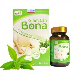 Viên uống giảm cân Bona hỗ trợ giảm béo, Hộp 60 viên