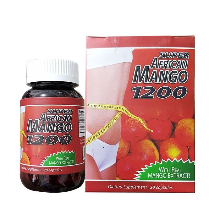 Tpbvsk giảm cân Super African Mango 1200, Hộp 20 viên