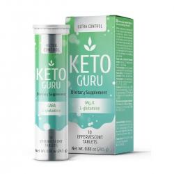Viên sủi Keto Guru giảm cân cơ chế ketosis làm tăng lượng ketone, Tuýp 10 viên sủi