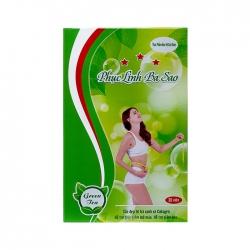 Tpbvsk giảm cân Phục Linh Ba Sao Green Tea, Hộp 30 viên
