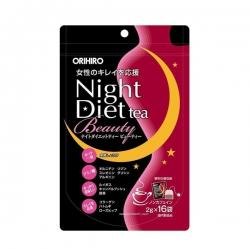 Trà giảm cân Orihiro Night Diet Tea Beauty | Túi 16 gói x 2g
