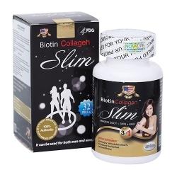 Viên uống giảm cân Biotin Collagen Slim làm đẹp da móng tóc